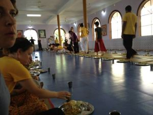 The Ashram Dining Hall.