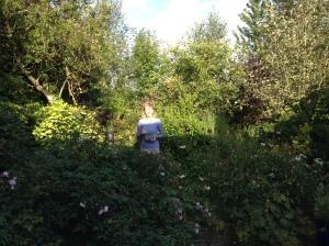 Brigitte in my garden