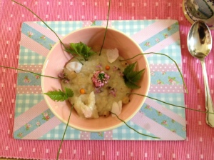 Porridge, with herbs from my garden!